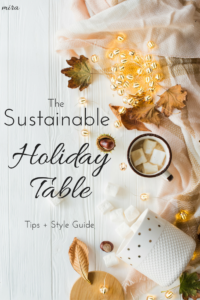 sustainable table decorations for the holidays