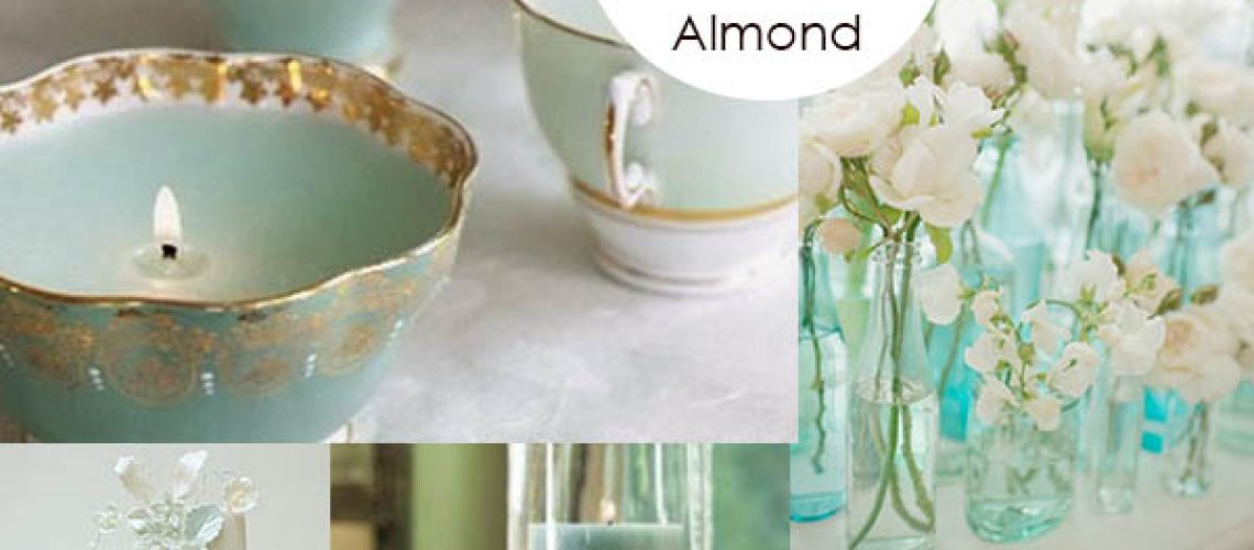 aquamarine and toasted almont mood board